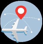 Ilustración de avión en vuelo
