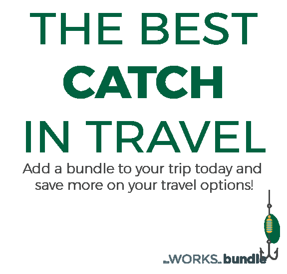 The best catch in travel - Add a bundle to your trip today and save up to 50% on your travel options
